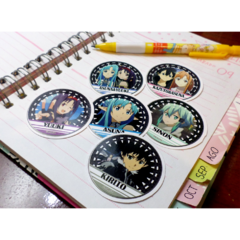 Set De 6 Stickers Circulares De Sword Art Online