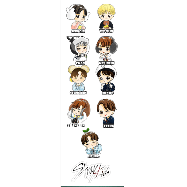 Plancha De Stickers De K-pop - Stray Kids - comprar online