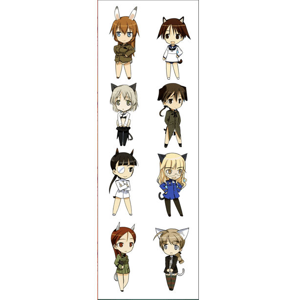 Plancha De Stickers De Strike Witches