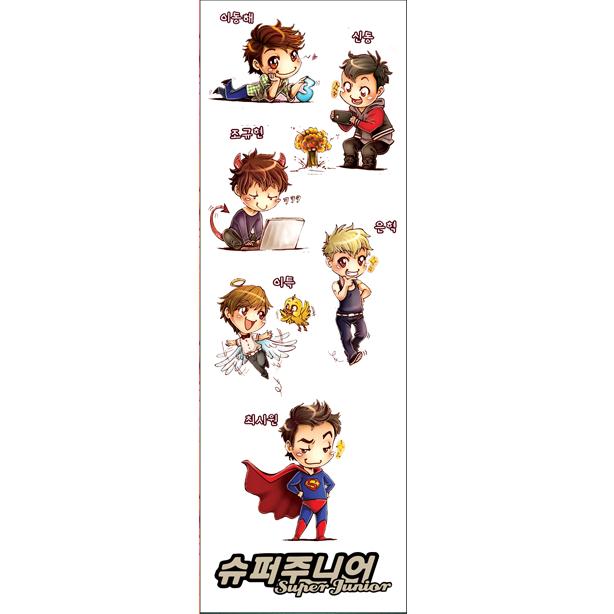 Plancha De Stickers De K-pop - Super Junior (1)