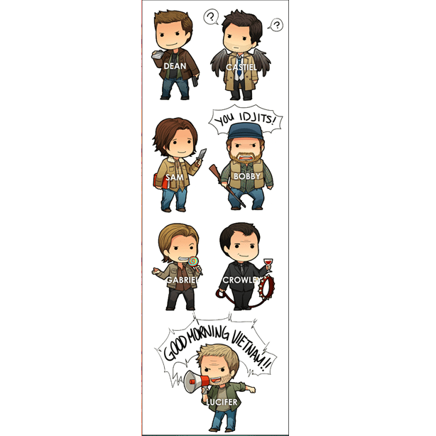 Plancha De Stickers Supernatural