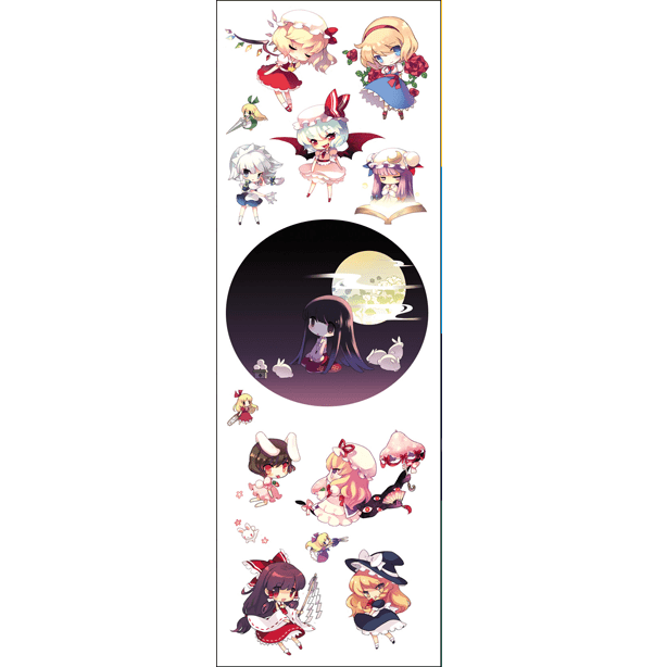Plancha De Stickers De Touhou Project