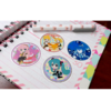 Set De 4 Stickers Circulares De Vocaloid