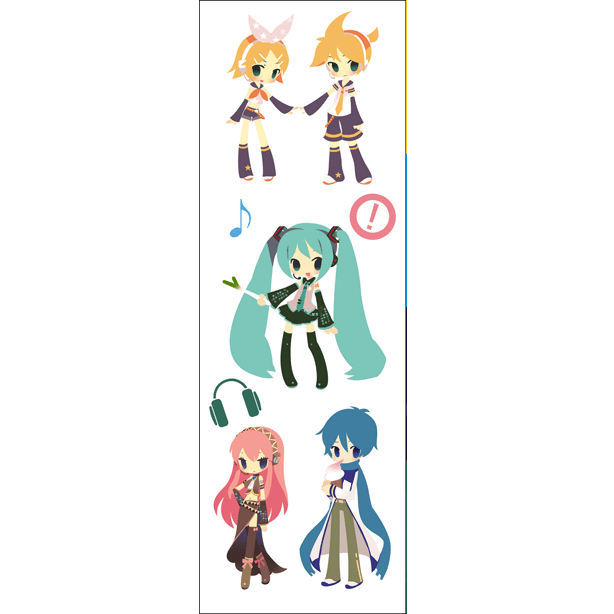 Plancha De Stickers De Vocaloid