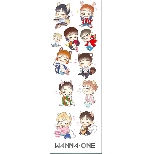 Plancha De Stickers De K-pop - Wanna One