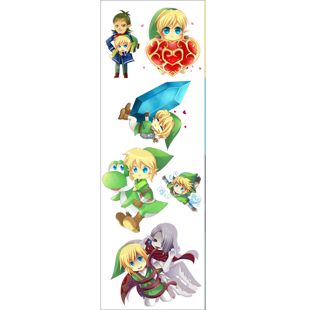 Plancha De Stickers De Legend Of Zelda