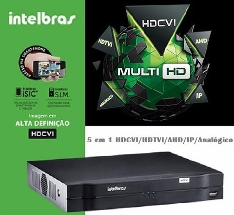 Dvr Stand Alone Multi Hd Intelbras Mhdx-1008 - 8 Canais 1080n Hdcvi