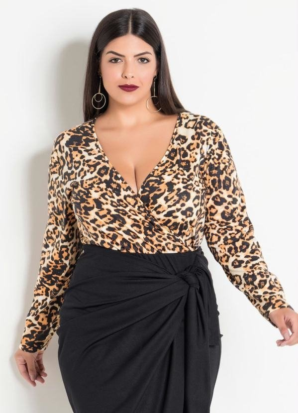 a2f7c06be Body Transpassado Onça Plus Size - Comprar em Enough