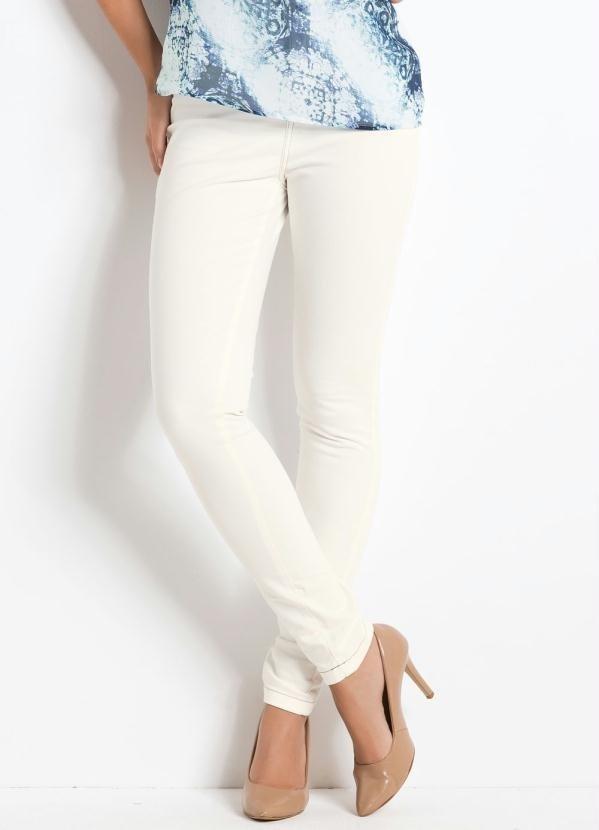 38e2e7ae2 Calça Skinny Branca Cintura Alta - Comprar em Enough