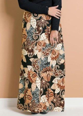Saia Longa Cashmere Plus Size