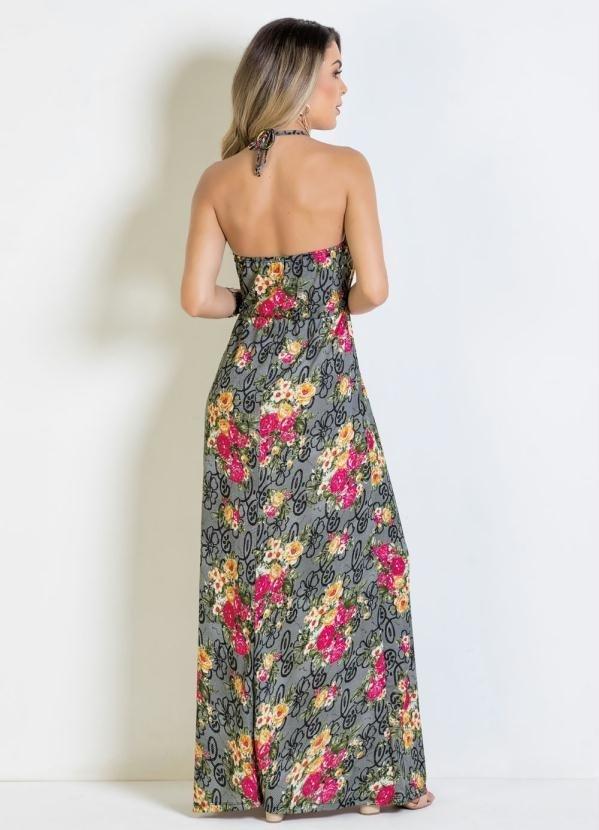 f03cb7af3 Vestido Longo Floral Frente Única - Comprar em Enough