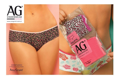 Pack X2 Bombachas Culotte Ana Grant. Art. 4465
