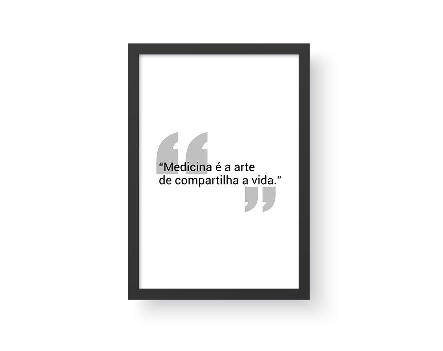 Quadro Frase Medicina Pmed8