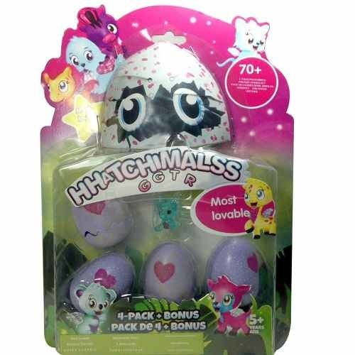 Ovo Hatchimals Pack Com 4 Ovos + Bonus Sortidos