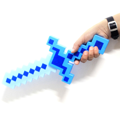 Imagem do Espada Minecraft De Diamante - 37cm Com Som e Luz Led