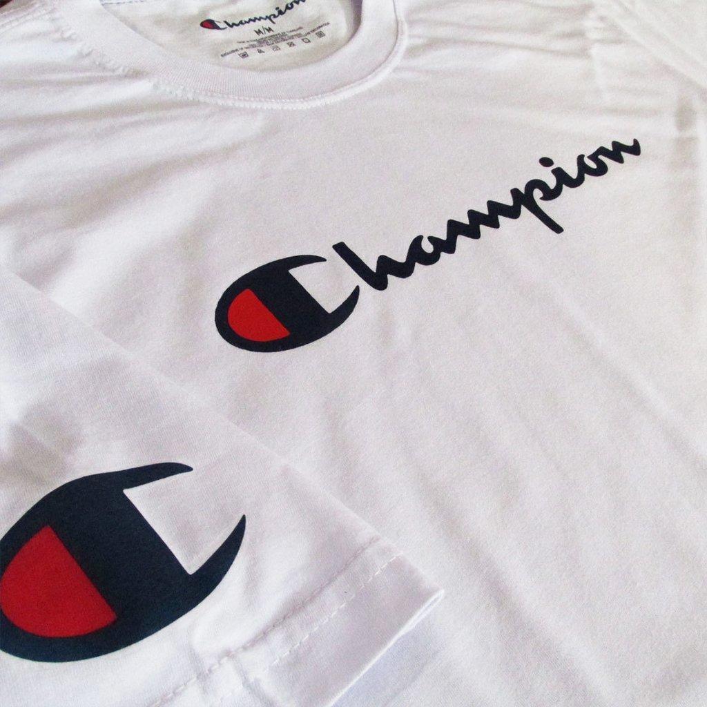 00e01cbc8e Camiseta Champion Primeira Linha Graphic Logo Masculina
