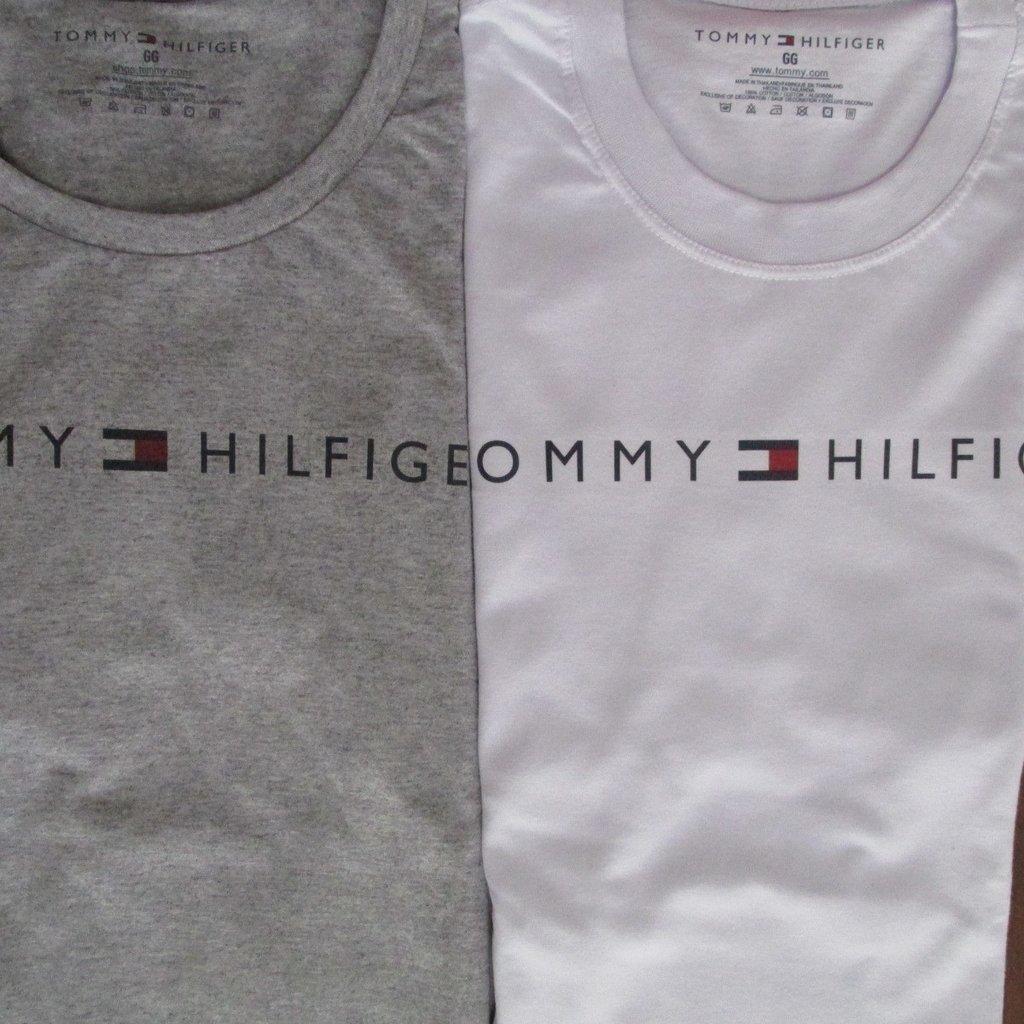 Camiseta Tommy Hilfiger Primeira Linha Peruana Logo Basica Masculina 3236910524454