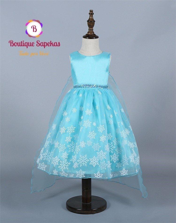 Vestido Tutu Da Rainha Elsa Frozen Boutique Sapekas