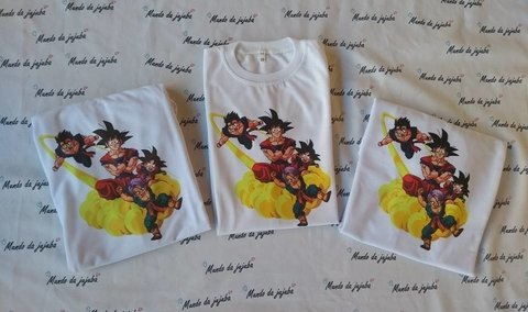 Kit familia 3 Camisetas  personalizadas Dragon ball