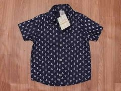 Camisa Azul Marinho Âncoras