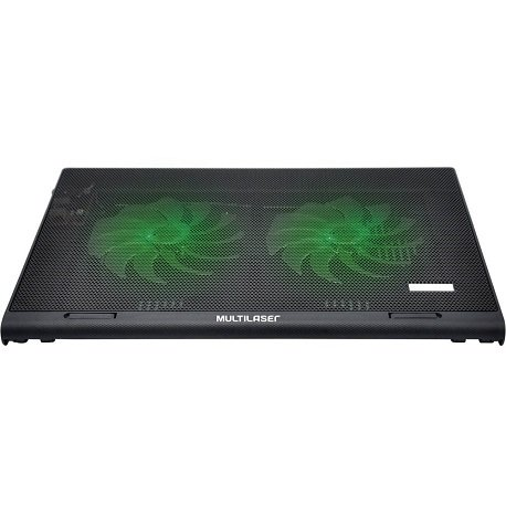 Cooler para Notebook Warrior Power Gamer LED Verde Luminoso - AC267 - INFOSERVS - Eletrônicos e Informática