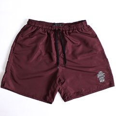 BURGUNDY NYLON SHORTS