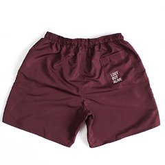 BURGUNDY NYLON SHORTS - buy online