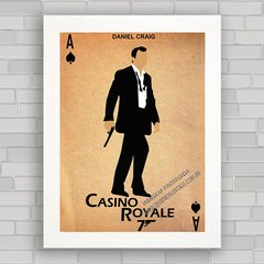 QUADRO DECORATIVO FILME 007 CASINO ROYALE na internet