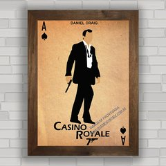 QUADRO DECORATIVO FILME 007 CASINO ROYALE