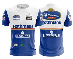 Camiseta Lendas - Senna Williams azul claro