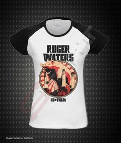 Baby look Raglan - Roger Waters (Us + Them)