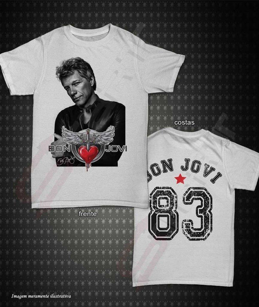 11a2013819c88 Camiseta, Regata ou Baby Look - Bon Jovi