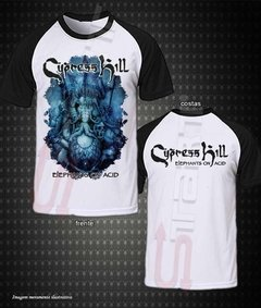 Camiseta Raglan - Cypress Hill (Elephants on Acid)