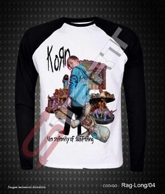 Raglan Manga Longa - Korn (The Serenity of Suffering)