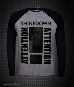 Raglan Manga Longa - Shinedown (Attention Attention) - comprar online