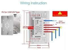 Imagem do Interruptor Wifi Sonoff Touch T1 Us 2 Teclas (1152)