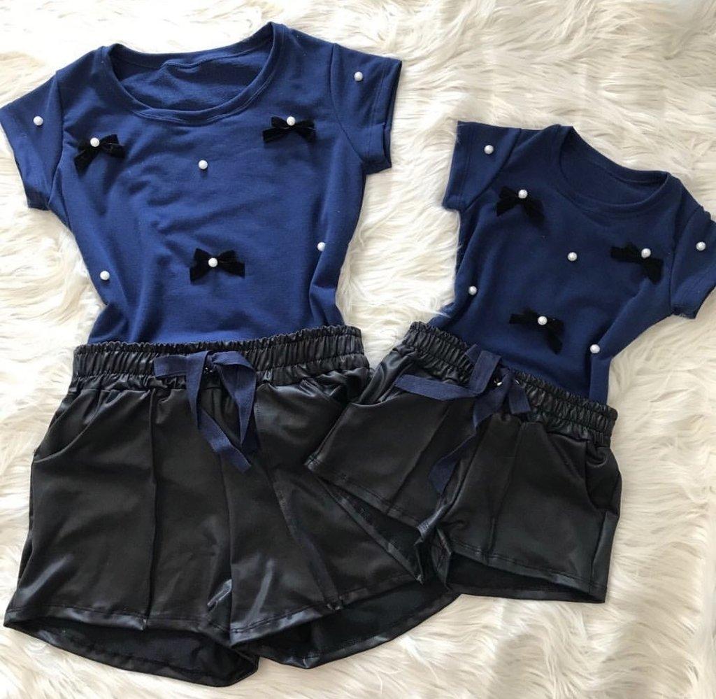 5f1c65f67 T-shirts lacinhos mais shorts Cirre - Tshirtsxuxu