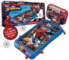 PINBALL ELECTRONICO AVENGERS SPIDERMAN EN CAJA COLOR CON SONIDOS Y LUCES TAPIMOVIL