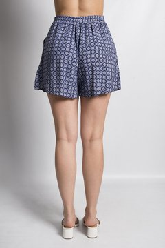 Short Ship Azul Estampado - comprar online