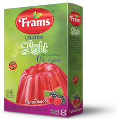 Gelatina Light de Frutos Rojos - Frams