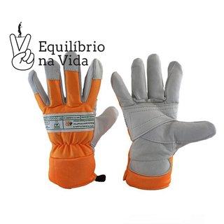 Luva de Vaqueta Rapel proteção especial dedos e palma -