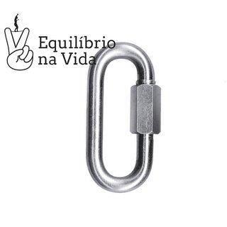MALHA RÁPIDA OVAL DE AÇO 10mm - Q.Fix