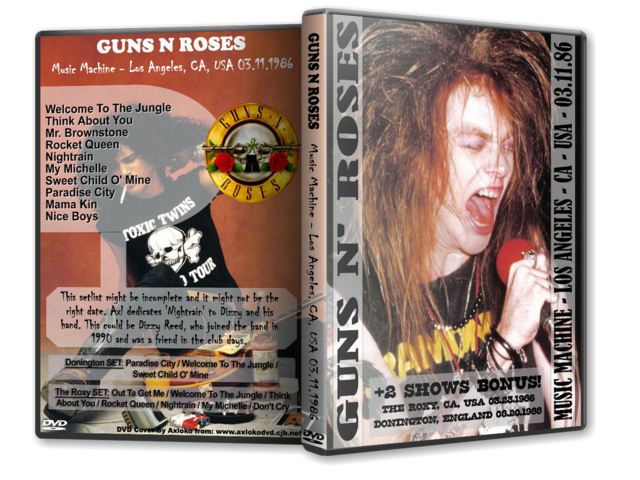 DVD GN'R - Music Machine + The Roxy 1986