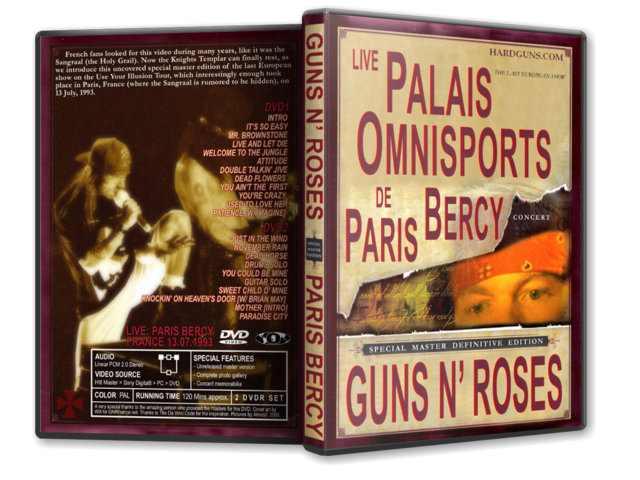 DVD GN'R - Paris 1993