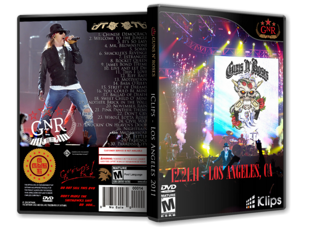 DVD GN'R - Los Angeles 2011