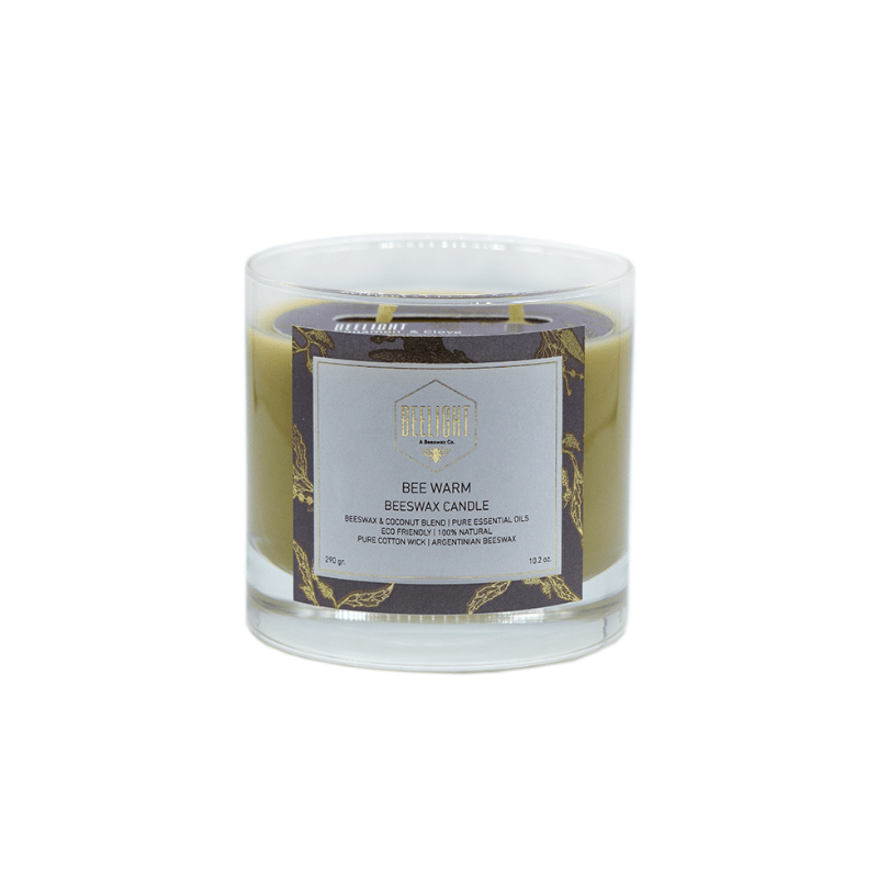 Beeswax Candle - Bee Warm Mediana