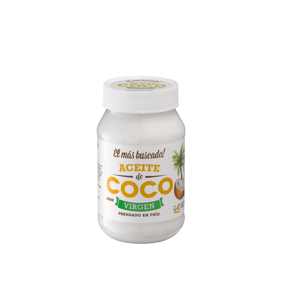 Aceite de Coco Virgen Premium 500 ml God Bless You