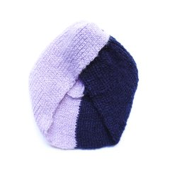 Turbante Bicolor Navy/Lila en internet