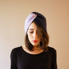 Turbante Bicolor Navy/Lila