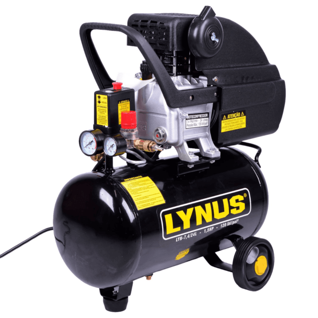 Motocompressor De Ar 7,4 Pcm 1,5hp Lyn 7,4/24l Lynus 220v - Ituana Loja Virtual